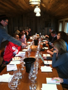 Wine blogging tasting hosted by Christopher Watkins of Ridge Vineyards in Monte Bello
