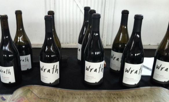 Some of the Wrath Wines tasted.