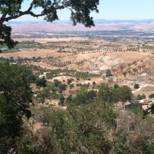 The view from Le Cuvier in Paso Robles